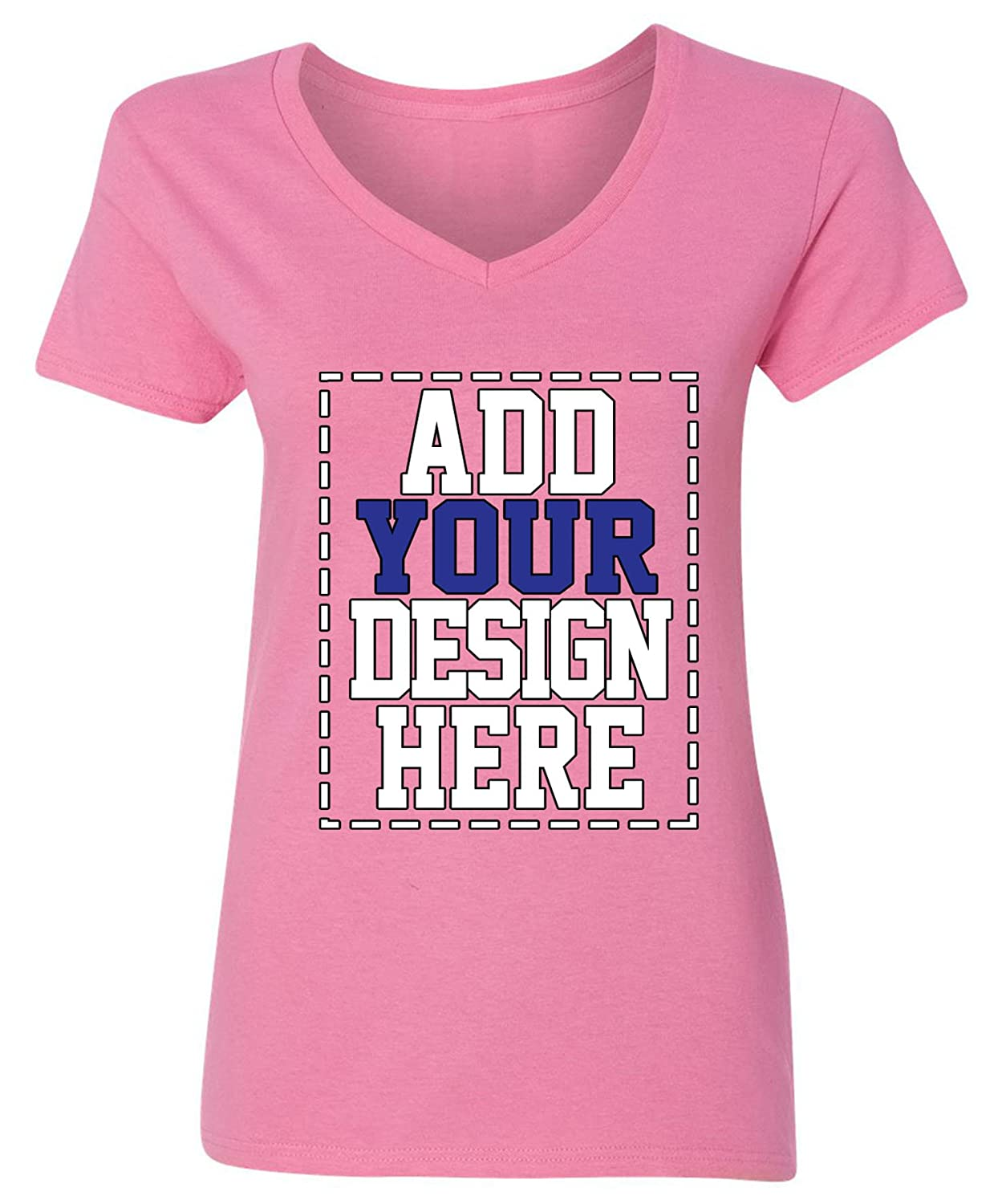 Amazon Custom V Neck T Shirts For Women Make Your Own Shirt