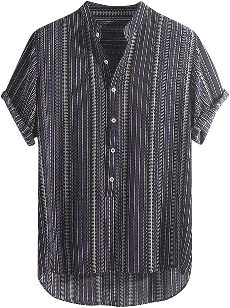 Camiseta Hombre Verano Manga Corta Raya Impresión Moda Casual T-Shirt Blusas Camisas Camiseta Originales Hombre Suave básica Camiseta Top Camisetas de Tirantes vpass: Amazon.es: Ropa y accesorios