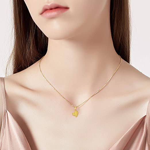 Est 2006 v2-18k Gold Finished Heart Pendant Luxury Necklace Unique Gifts Store Mama