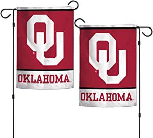 "WinCraft NCAA University of Oklahoma Sooners 12.5"" x 18"" Inch 2-Sided Garden Flag Logo"
