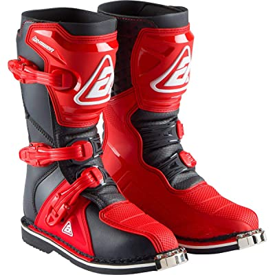 Answer 2020 Youth AR1 Boots (5) (RED/Black): Automotive