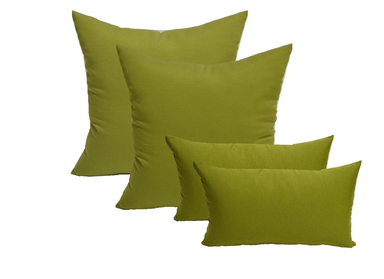 2 Square Pillows /& 2 Rectangle // Lumbar Decorative Throw Pillows Solid Navy Blue Fabric 20 x 20 Square /& 11 x 19 Lumbar Set of 4 Indoor // Outdoor Pillows