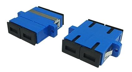 CERRXIAN SC Duplex Fiber Optic Adapter SC Female to SC Female UPC Duple  Single Mode Multimode Fiber Optical Coupler Network Internet Connector  Adapter