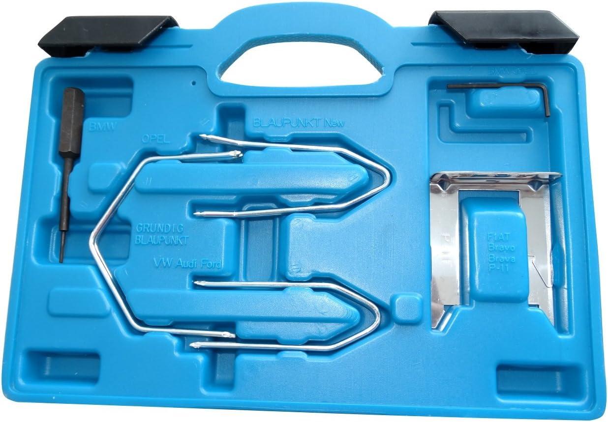 Kit Coffret cl/és de d/émontage Extraction dautoradio Ensemble DE 14 Paires C40672 AERZETIX