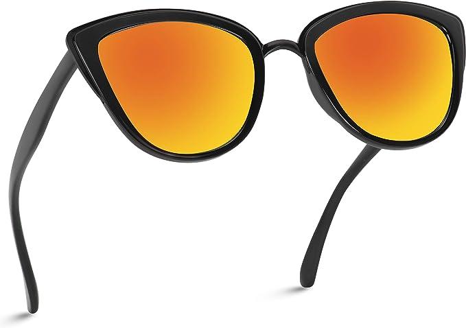 Flat Lens Cat Eye Top Bar Wayfarer Sunglasses