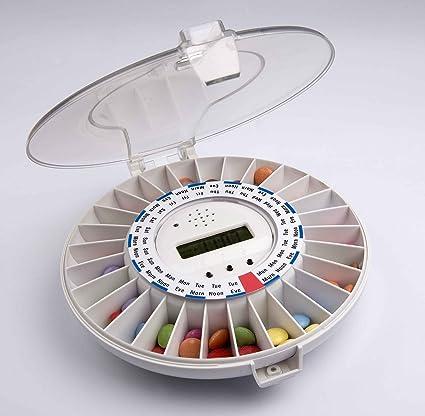 TabTime Medelert Mark CII, automatic pill Dispensador pill timer reminder automático y pillola Maison-medicamento, Pastillero, ...