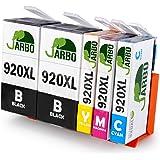 JARBO Compatible Ink Cartridges Replacement for HP 920 XL Ink Cartridges High Capacity Compatible with HP Officejet 6000 6500 7000 7500 Printer (2 Black,1 Cyan,1 Magenta,1 Yellow)