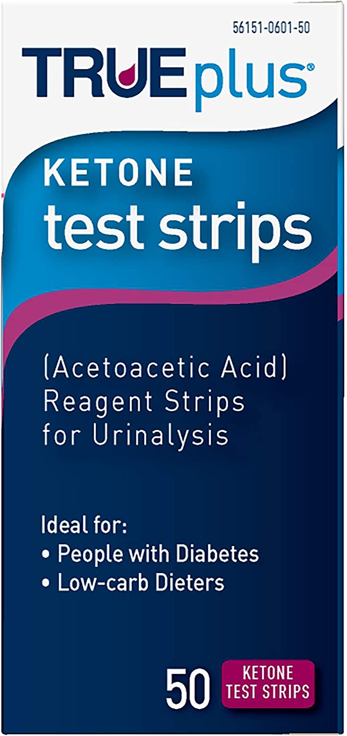 TRUEplus® Ketone Test Strips – Made in USA–Urinalysis Test Sticks (50)