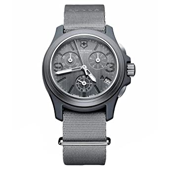 Image Unavailable. Image not available for. Color  Victorinox Swiss Army  Men s 241532 Original Chronograph Grey Nylon Strap Watch 32f402b980