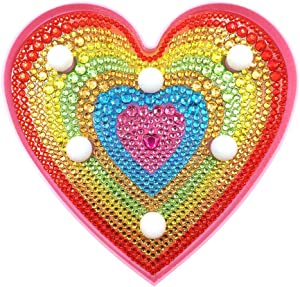 LED Light, DIY LED Diamond Painting Heart Embroidery Full Special Shaped Drill Light