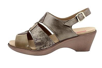 Chaussure femme confort en cuir Piesanto 8855 sandale semelle amovible  confortables amples e3e2d171b959