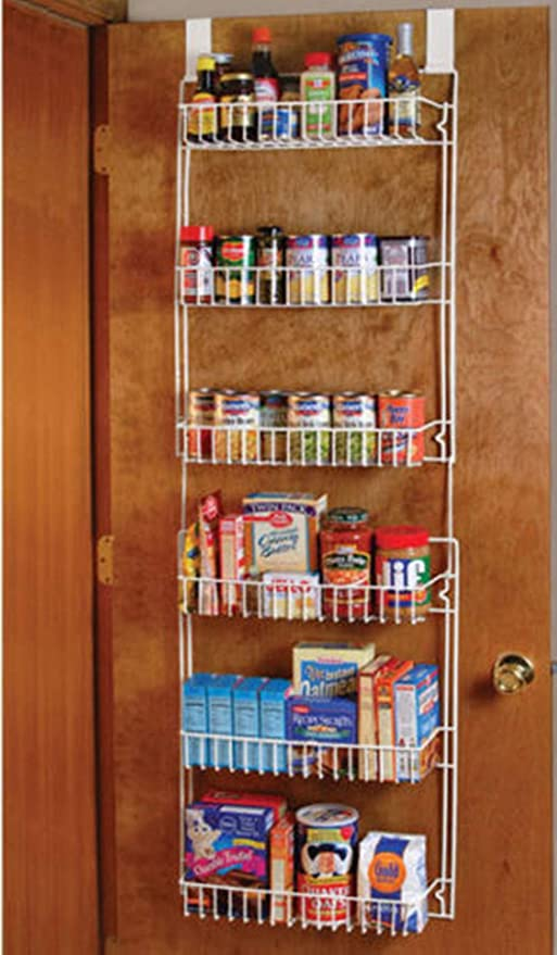 Good concept Over the Door Storage Shelf Kitchen Pantry Rack Organizer  Spice Space Saver