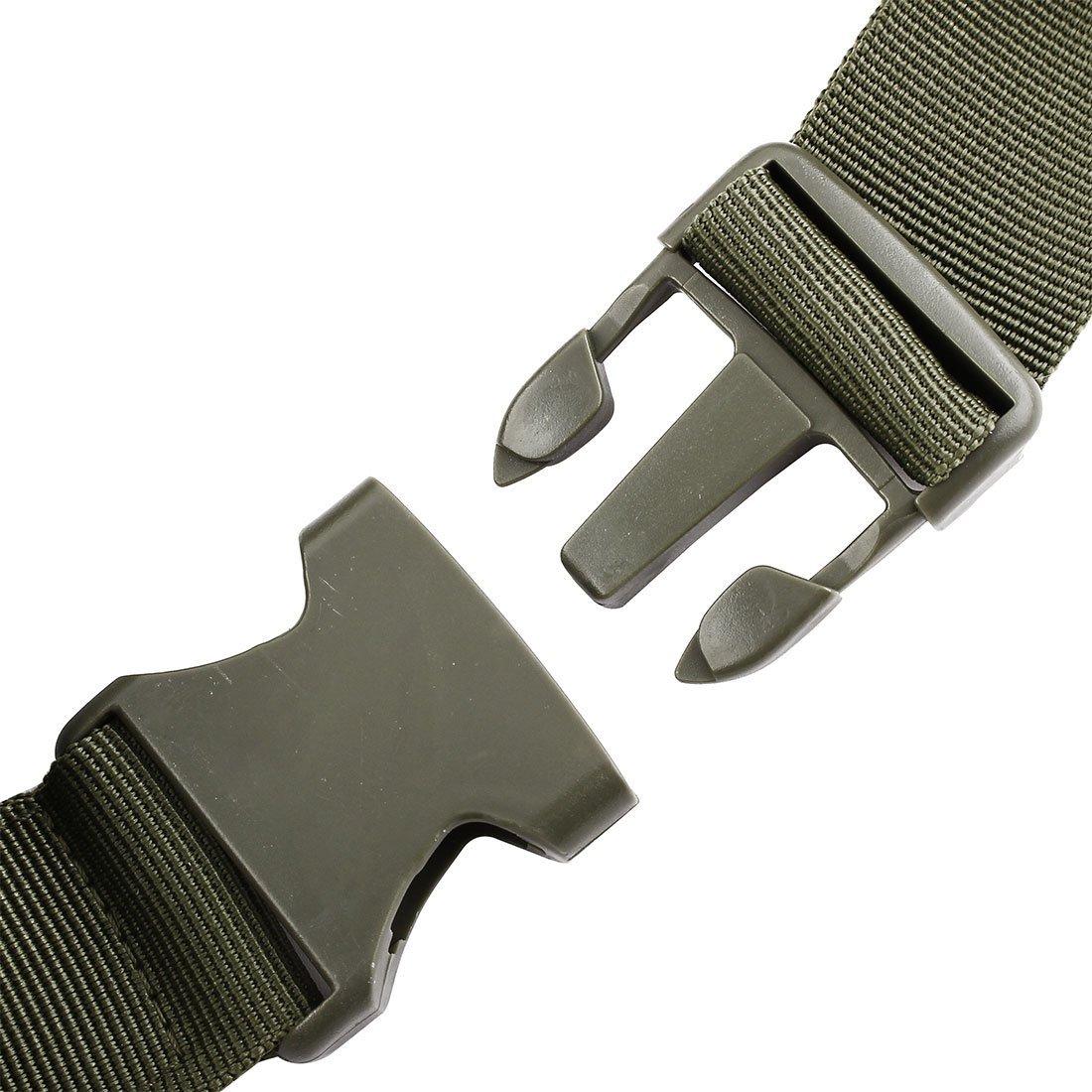 eDealMax Nylon Outdoor Sport Camping Zip Up 4 Vano regolabile supporto del telefono del sacchetto Della vita dell'esercito Verde