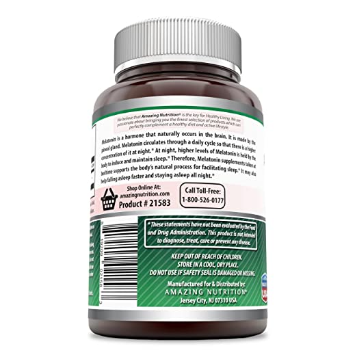 Amazon.com: Amazing Formulas Melatonin for Relaxation and Sleep, 10 Mg, 250 Tablets - Natural Sleep Aid Supplement – Promotes Calming and Relaxing Effect ...