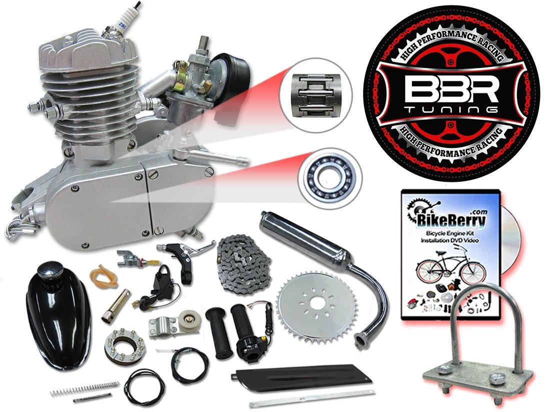 Amazon.com: BBR Tuning 48cc Silver Motorized Bicycle Kit – 2 Stroke Gas  Powered Bike Motor Engine: Automotive