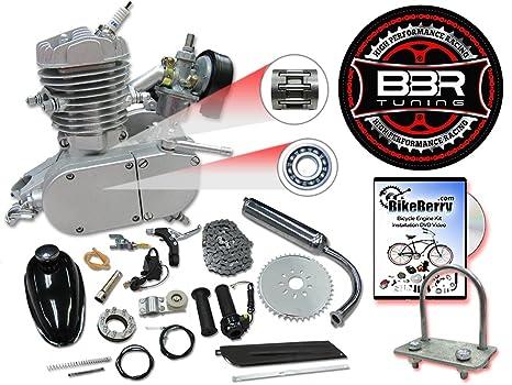 BBR Tuning 48cc Silver Motorized Bicycle Kit – 2 Stroke Gas Powered Bike  Motor Engine