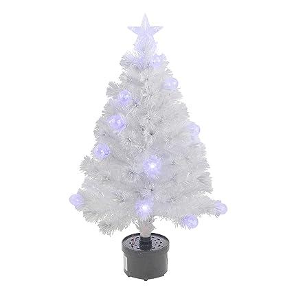 Northlight Pre-Lit White Iridescent Fiber Optic Artificial Christmas Tree,  3' - Amazon.com: Northlight Pre-Lit White Iridescent Fiber Optic