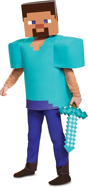 Steve Deluxe Minecraft Costume, Multicolor, Small (12-12)