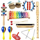 Lebbeen Hand Knocks The Xylophone,Wooden harmonica,Wood clarinet,Wooden Shaking Bell,Triangle bell,Wooden gyro,Half-round hand grip bell,Wooden castanets,Three-color sand hammer