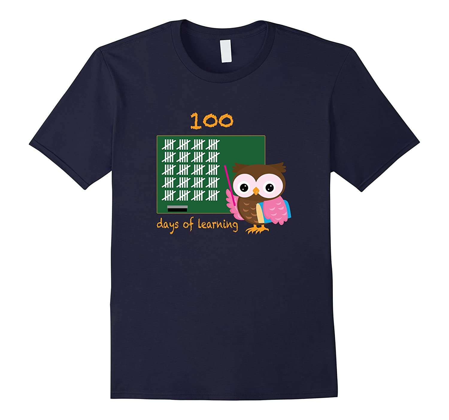 100 Days of Learning Teacher and Kids School T-Shirt-TD