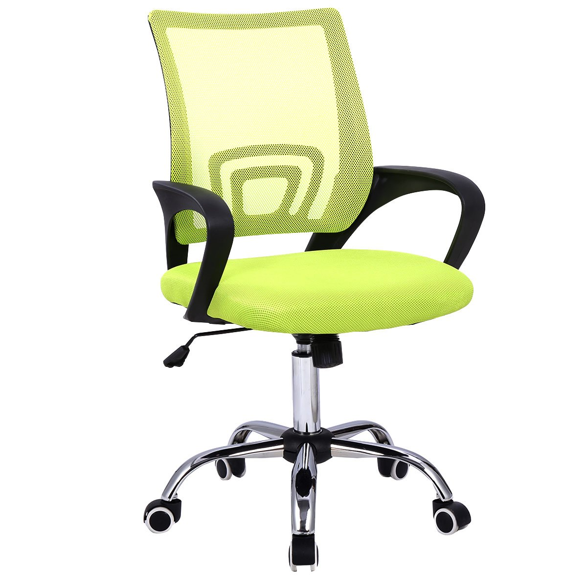 Giantex Modern Mesh Mid-Back Office Chair Computer Desk Task Ergonomic Swivel Green
