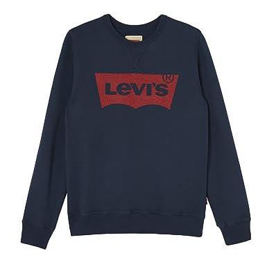 62f308ba8f41 Levis Kids Jungen Sweatshirt Sweat Nos Batwi, Blau (Marine 04), 2 Jahre