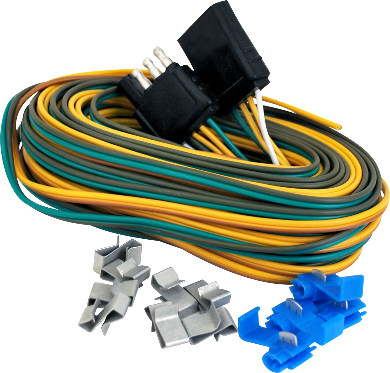 71fx318 DlL._SL1254_ amazon com attwood 7621 7 complete trailer wiring kit automotive Plug in Trailer Wiring Kits at mifinder.co