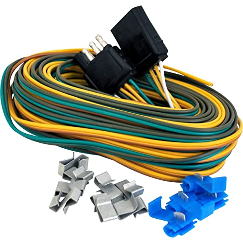 Trailer Wiring Harness Kit: Amazon.com on semi trailer bumpers, semi trailer seals, semi trailer pigtail wiring, semi truck trailer wiring, semi trailer wiring code, semi trailer wheels, semi trailer electrical plug, semi trailer hub caps, semi trailer cable, semi trailer hardware, semi trailer door handle, semi trailer fender, semi trailer air bag, semi trailer transformer, semi trailer engine, semi trailer covers, semi trailer plug wiring, semi trailer hose, semi trailer cross members, semi trailer frame,