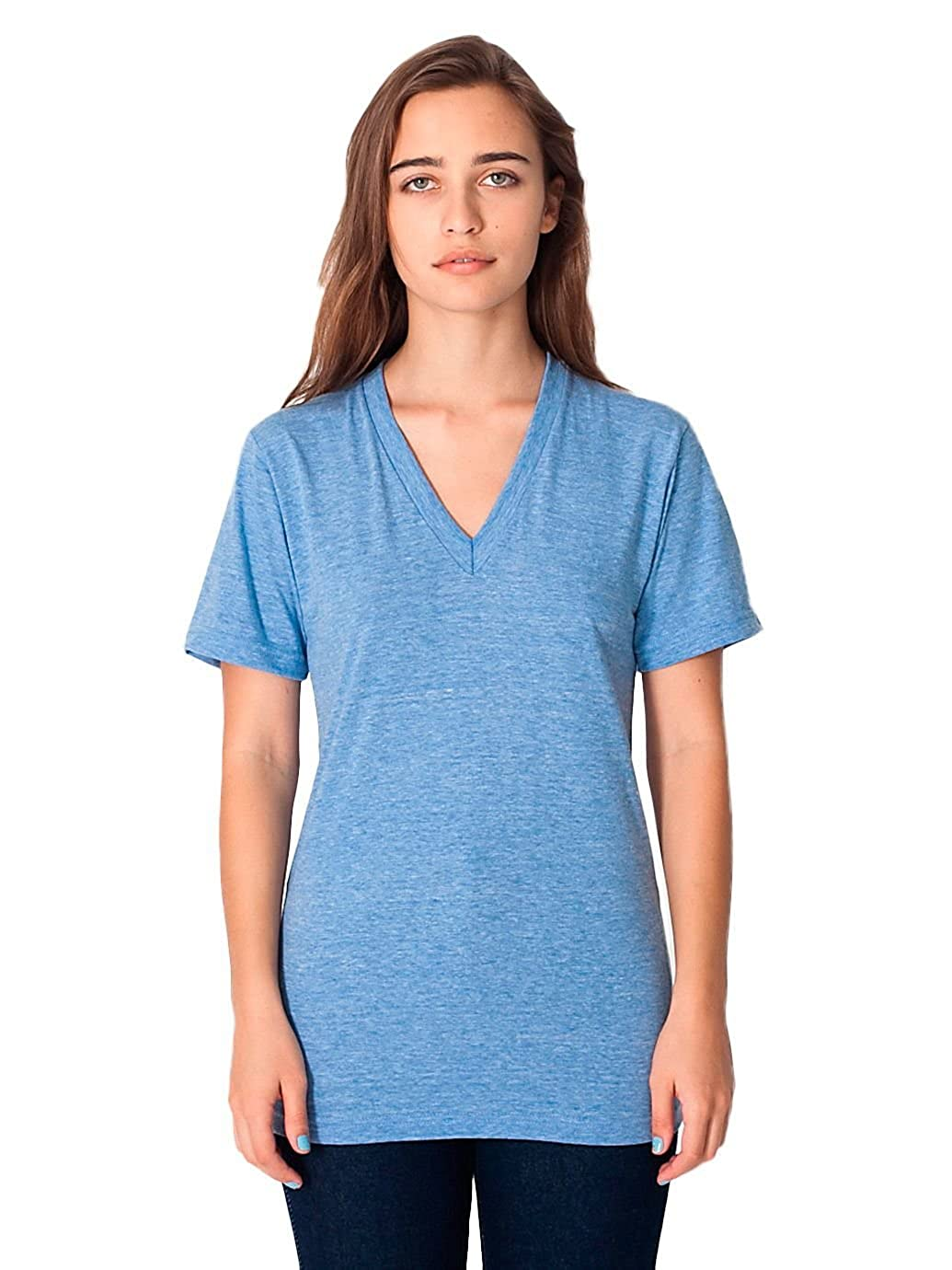 666533fa0 American Apparel Unisex Tri-Blend Short Sleeve V-Neck at Amazon Men's  Clothing store: