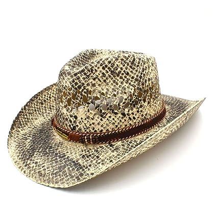 GR Mujeres Hombres Paja Occidental Hombre Vaquera Jazz Caps Pun Sombrero de  Vaquero Hecho a Mano 8c633f0e5af