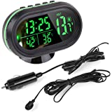 Auto Uhr Thermometer Temperatur Messgerät Spannung digitale LED beleuchtete DC 12V ~ 24V von Enshey