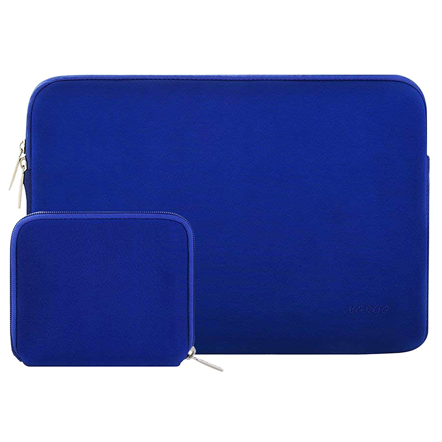 MOSISO Water Repellent Neoprene Sleeve Bag Cover Compatible 13-13.3 Inch Laptop with Small Case, Royal Blue