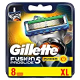 Gillette 50103-1 Fusion Proglide Power Mens Refill Cartridge Blades - 8 Count