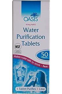 Oasis 100 tabletas de purificación de Agua (10 Tiras Sueltas ...