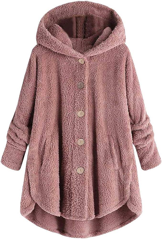 Übergröße Tops Strickjacke Mantel Solide Tasche Knopf Oberbekleidung Mantel