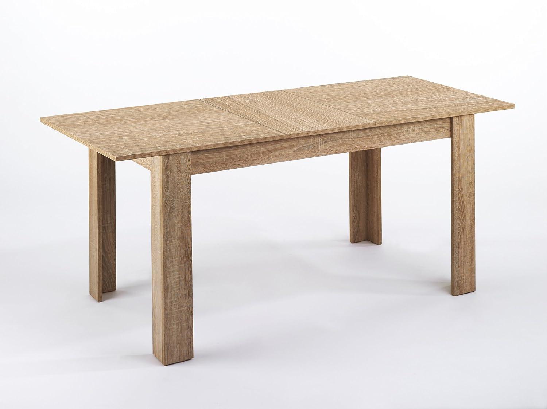 CAVADORE Tisch Nick/Moderner Esstisch 140 cm mit ausziehbarer ...