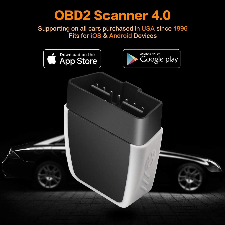 GEMWON ELM327 OBD2 Bluetooth, Escáner OBD2 Scanner Bluetooth 4.0 ...