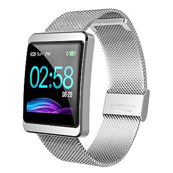 CanMixs Pulsera de Actividad Smartwatch, CM11 Impermeable IP68 Pulsera Inteligente con Podómetro, Monitor de Ritmo, Calorías, Sueño Notificación etc ...