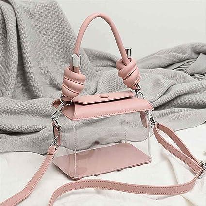 Damen PVC transparent klar Umhängetasche Tote Jelly Candy Sommer Handtasche