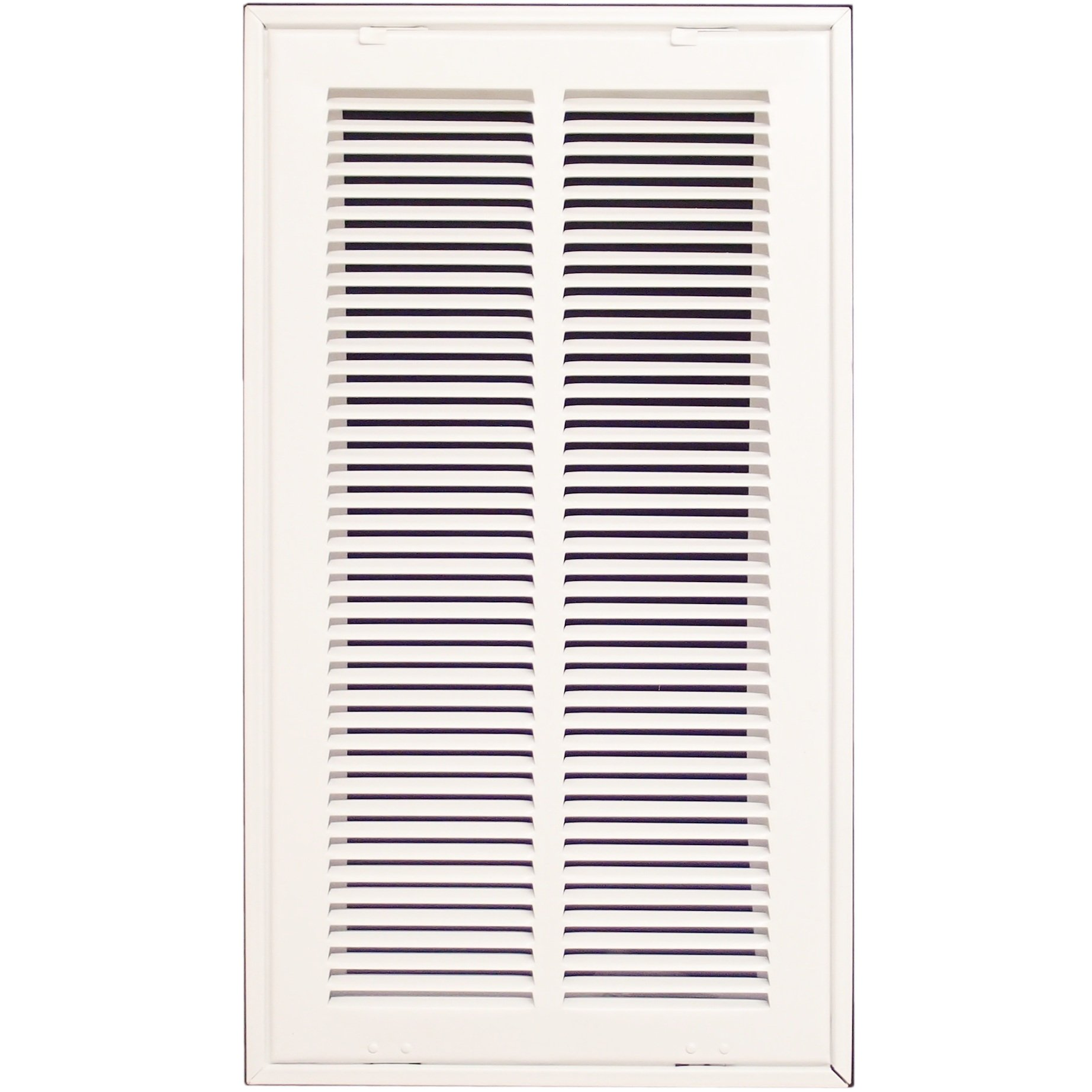 10'' X 20 Steel Return Air Filter Grille for 1'' Filter - Fixed Hinged - ceiling Recommended - HVAC DUCT COVER - Flat Stamped Face - White [Outer Dimensions: 12.5''w X 22.5''h]