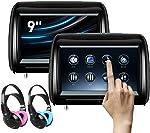 XTRONS 2 x 9 Inch Pair Car Headrest DVD Player HD