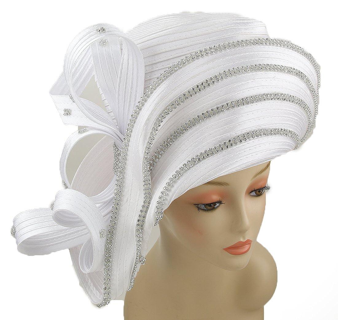 White Janes Women Hat Church Hats Wedding Tea Party Formal Hats