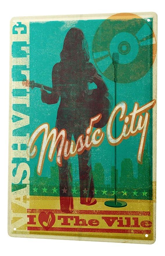 Cartel Letrero de Chapa XXL Estrella la música de Nashville ...