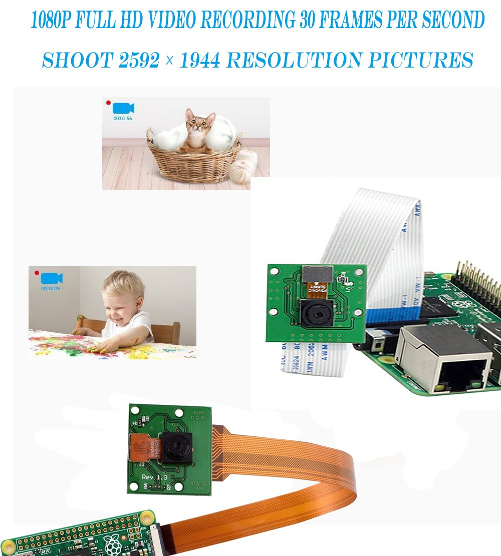 Amazon com: Raspberry Pi Camera,Zero Camera Raspberry pi 3