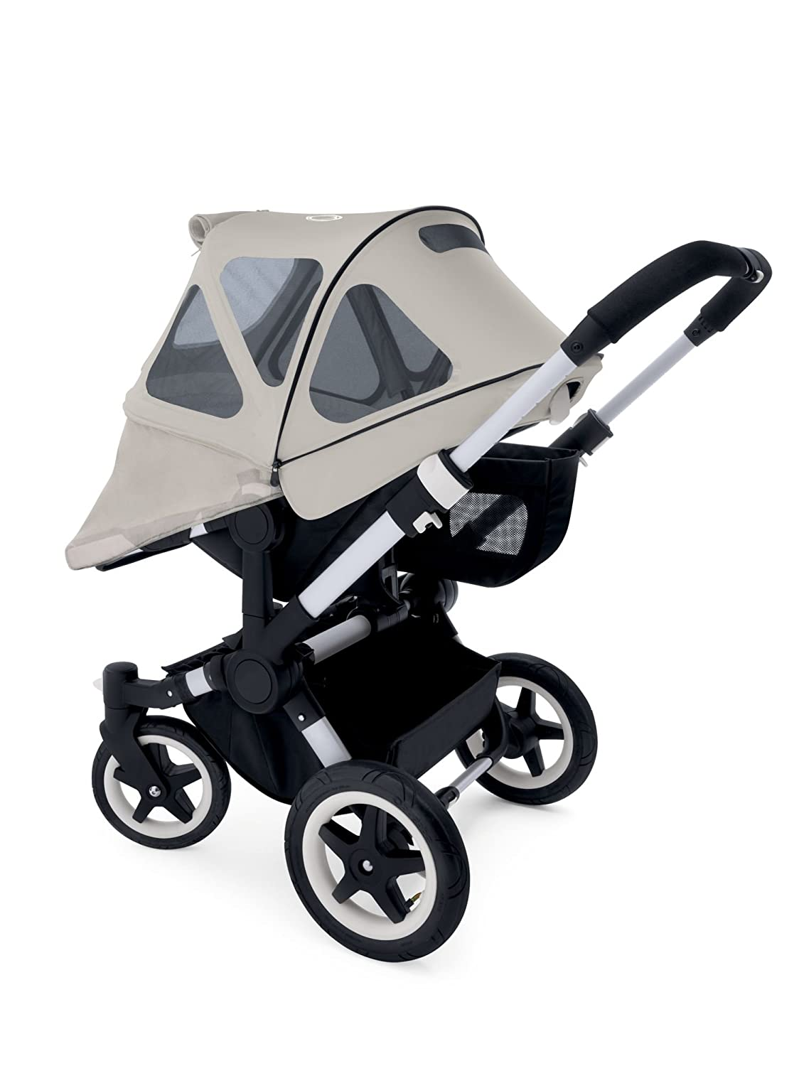 Extendable Sun Canopy with Mesh Ventilation Panels Artic Grey Bugaboo Donkey2 Breezy Sun Canopy
