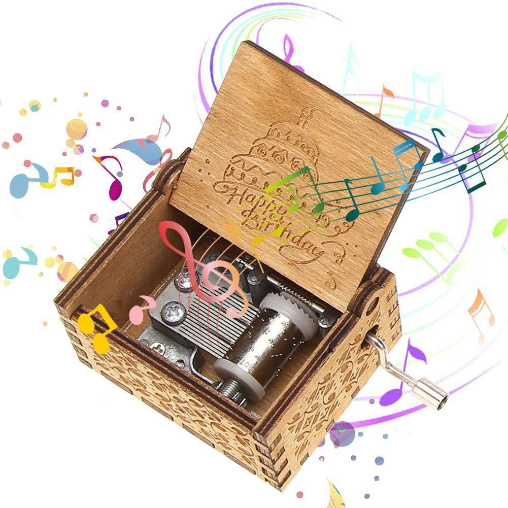 Powlance Wooden Music Box Happy Birthday Instrument (B07P6WYZ4Z) Amazon Price History, Amazon Price Tracker