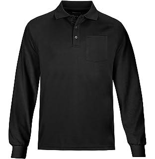 04884e29e753 MOHEEN Men's Outdoor Big & Tall Long Sleeve Moisture Wicking Performance  Golf Polo Shirt