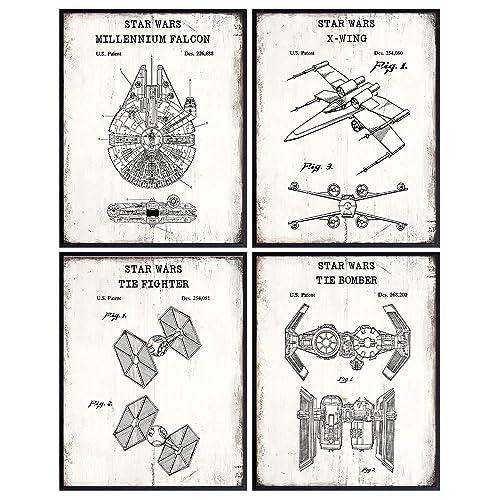 Star Wars Set Canvas Art,patent Print Poster,patent Print Art,home Decor,patent Wall Art,vintage Art,vintage Patent Set ppes0030-c