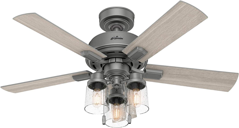 Hunter Fan Company 50649 Hartland Ceiling Fan, 44, Matte Silver