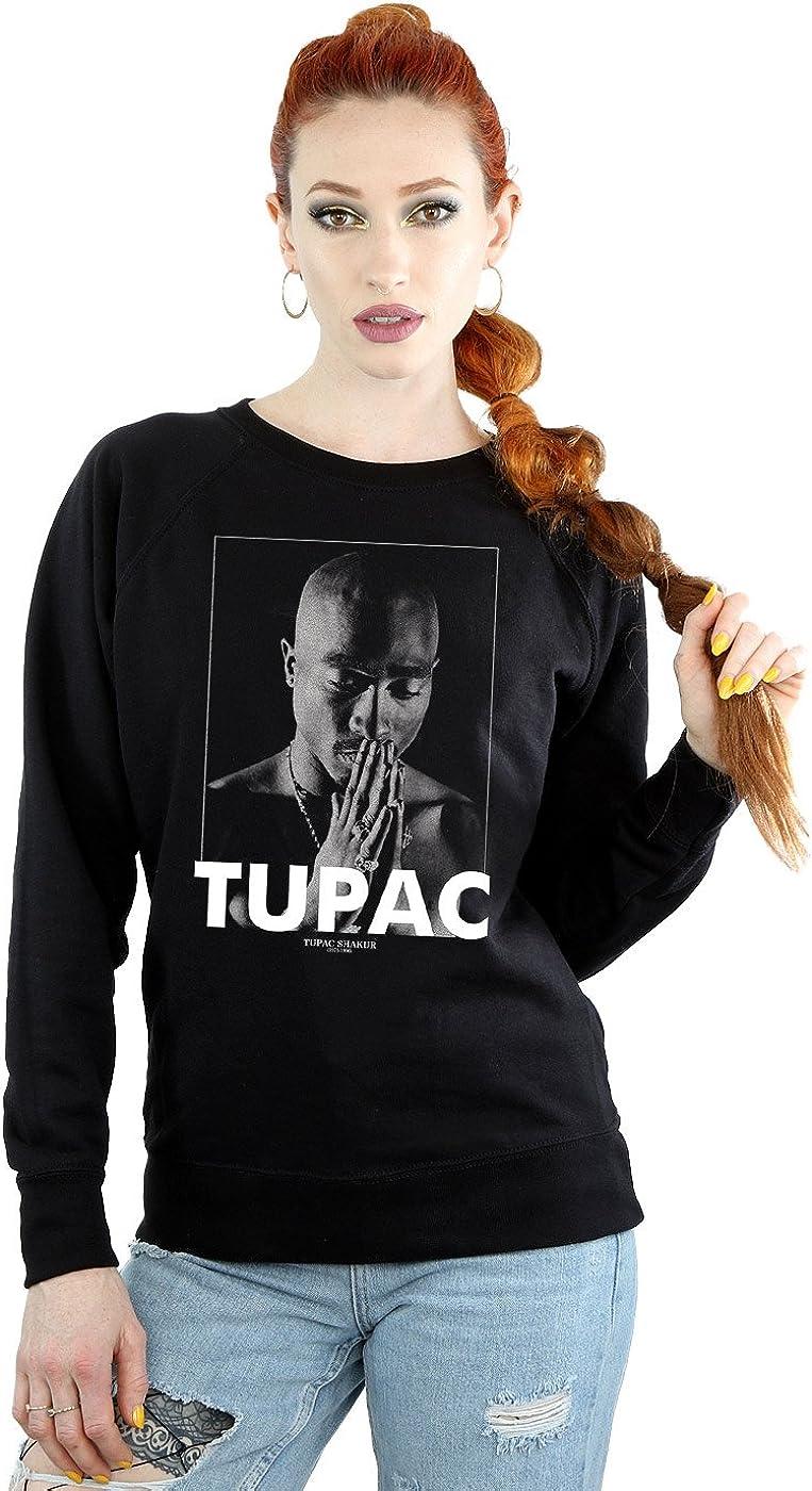 2Pac Mujer Tupac Shakur Praying Camisa De Entrenamiento